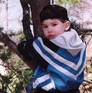 Jake climbing a tree at age 4!